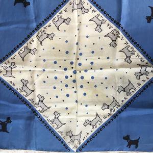 Vintage silk Scottie Dog scarf